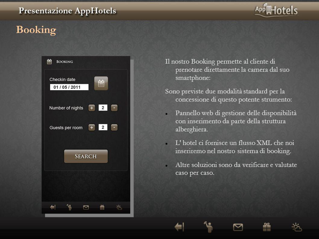Booking Il nostro Booking permette al cliente di prenotare direttamente la camera dal suo smartphone: