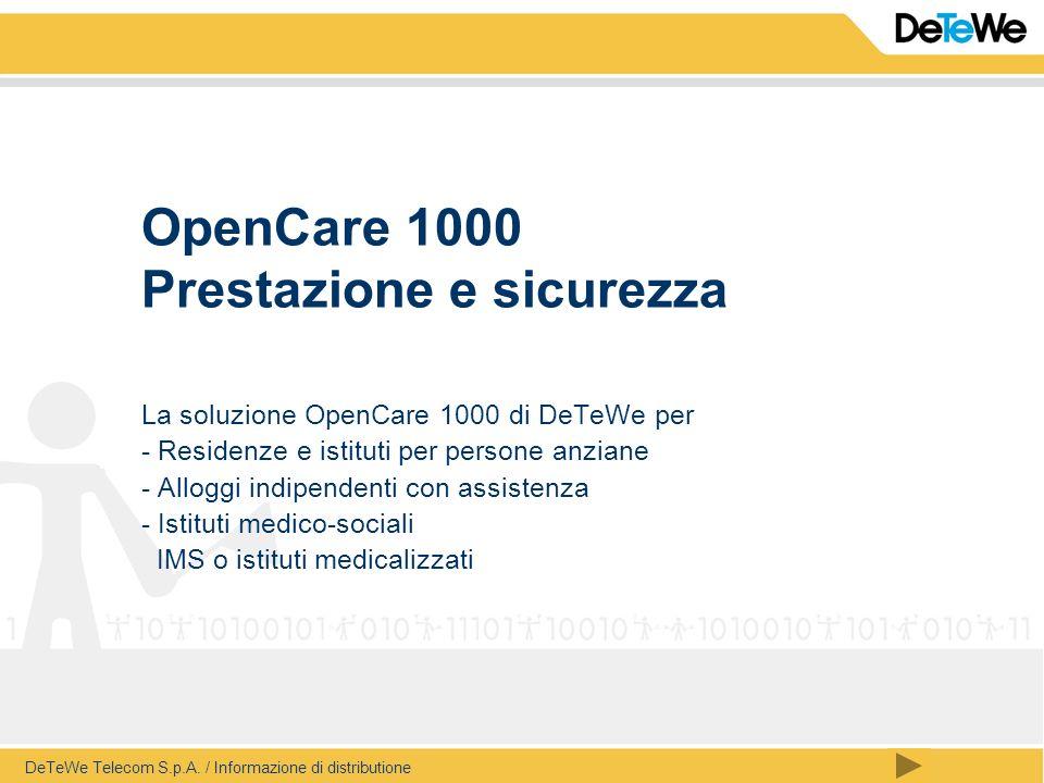 OpenCare 1000 Prestazione e sicurezza