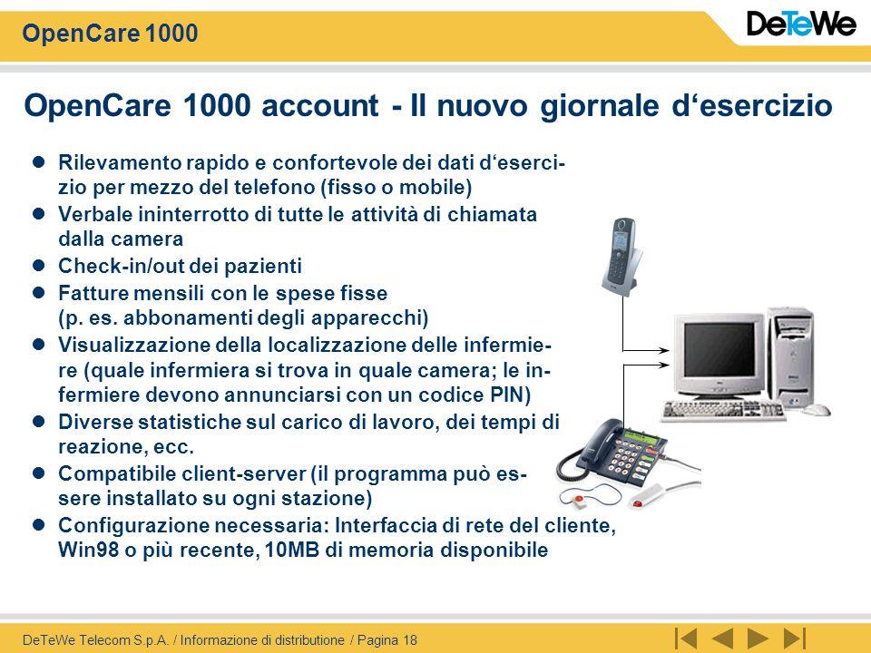 OpenCare 1000 account - Il nuovo giornale d'esercizio