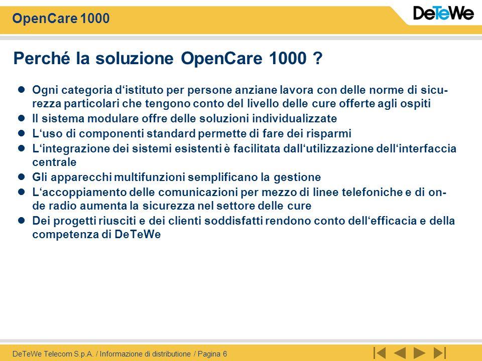 Perché la soluzione OpenCare 1000