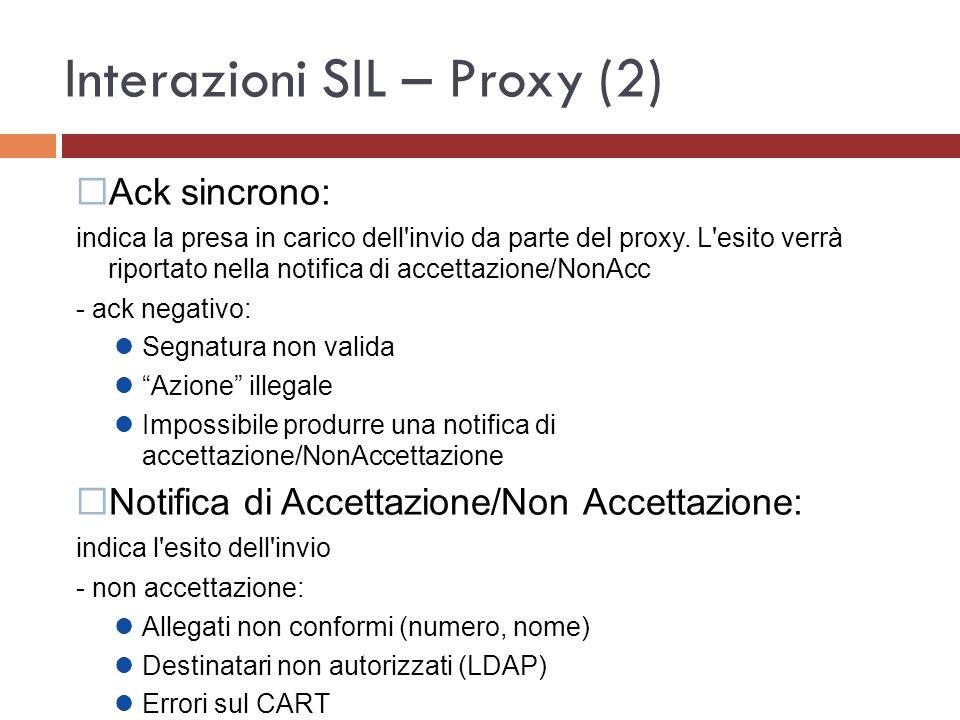 Interazioni SIL – Proxy (2)