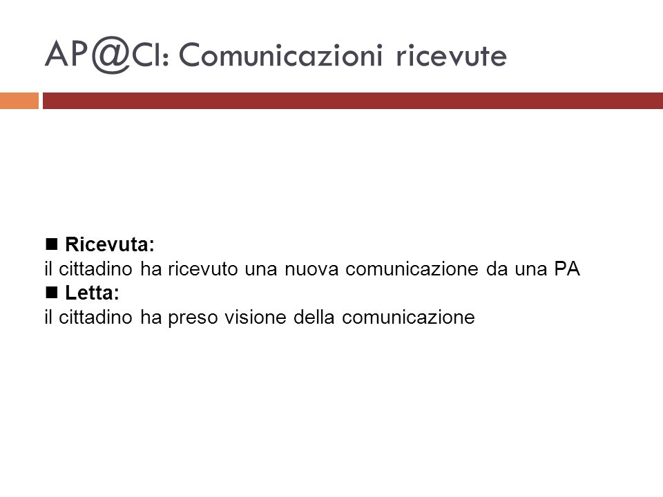 AP@CI: Comunicazioni ricevute