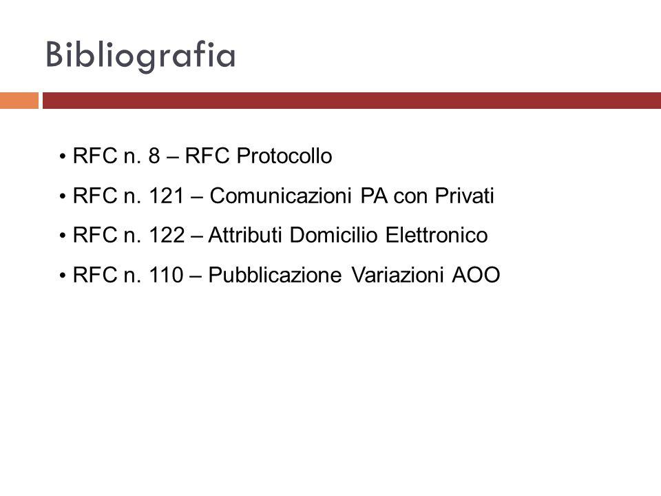 Bibliografia RFC n. 8 – RFC Protocollo