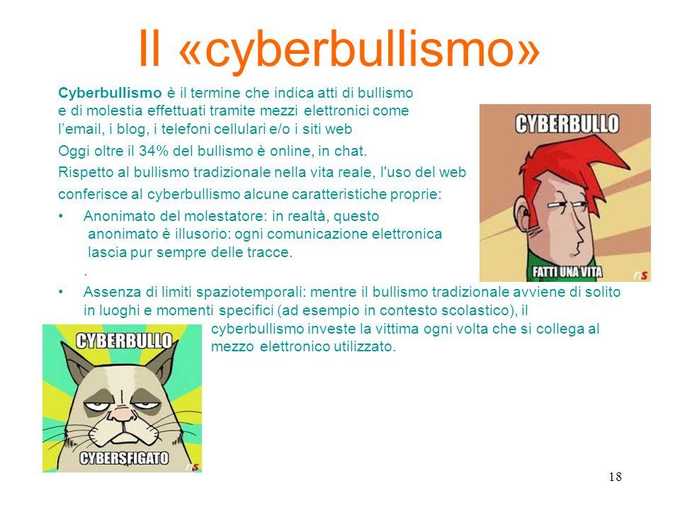 Il «cyberbullismo»