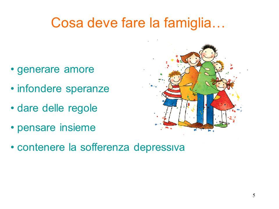 Cosa deve fare la famiglia…