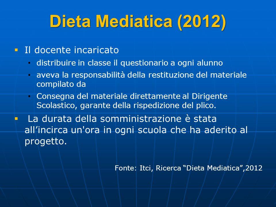 Dieta Mediatica (2012) Il docente incaricato