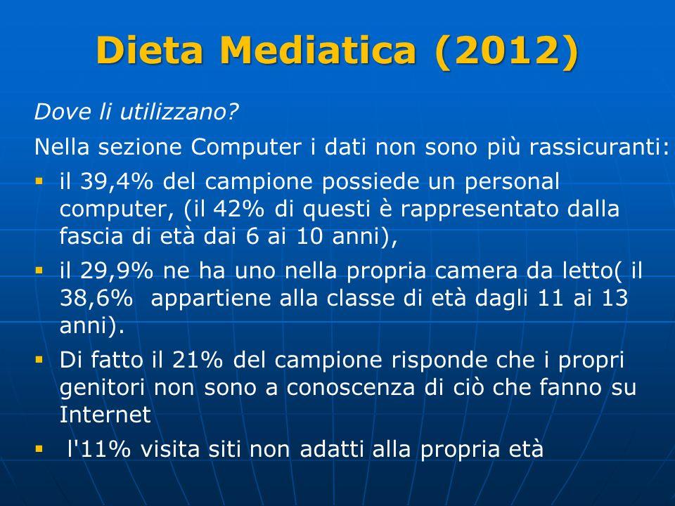 Dieta Mediatica (2012) Dove li utilizzano