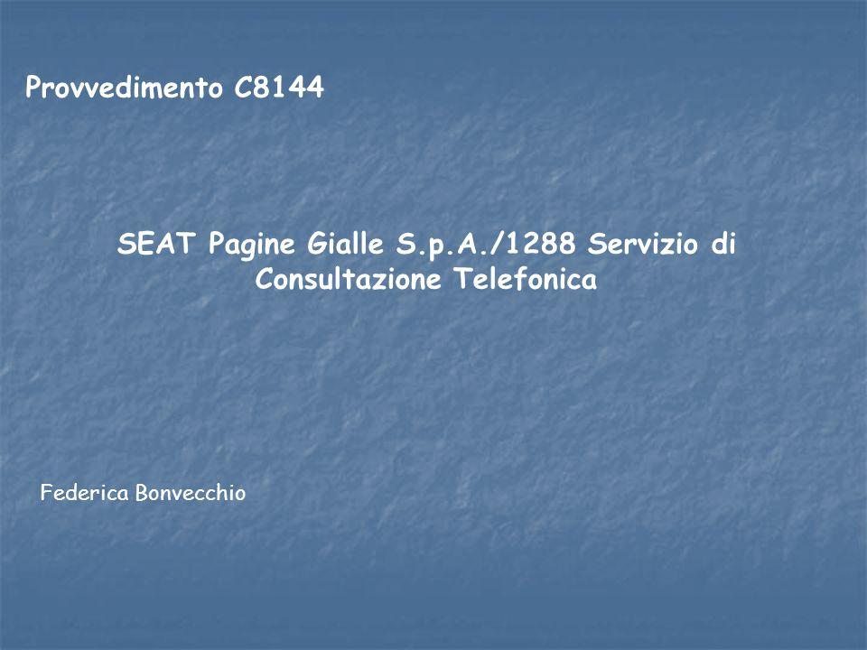SEAT Pagine Gialle S.p.A./1288 Servizio di Consultazione Telefonica