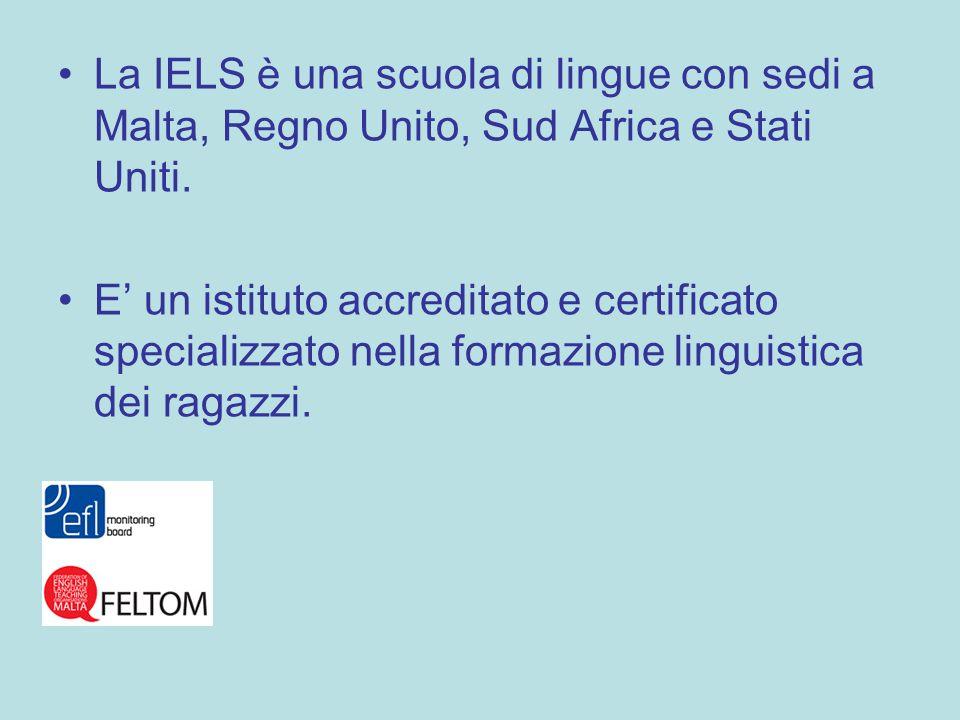 La IELS è una scuola di lingue con sedi a Malta, Regno Unito, Sud Africa e Stati Uniti.