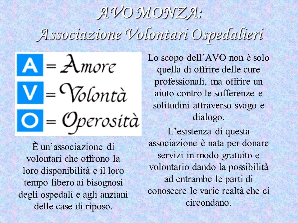 AVO MONZA: Associazione Volontari Ospedalieri