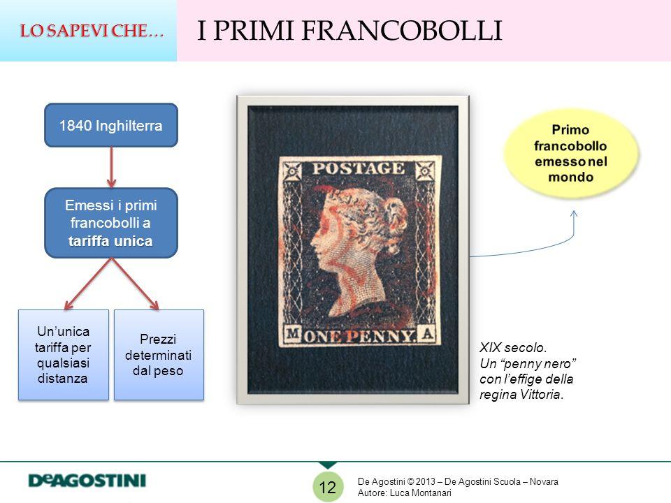 Primo francobollo emesso nel mondo