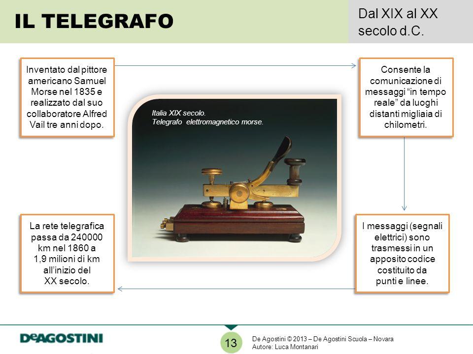 IL TELEGRAFO Dal XIX al XX secolo d.C. 13