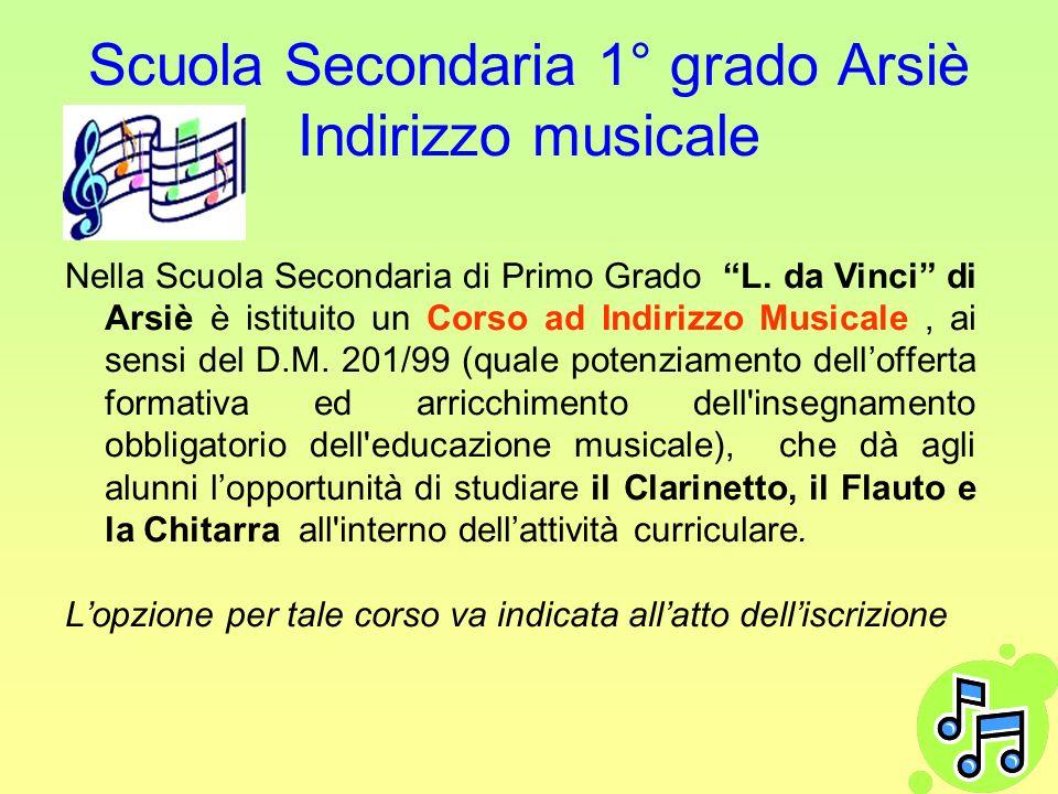 Scuola Secondaria 1° grado Arsiè Indirizzo musicale