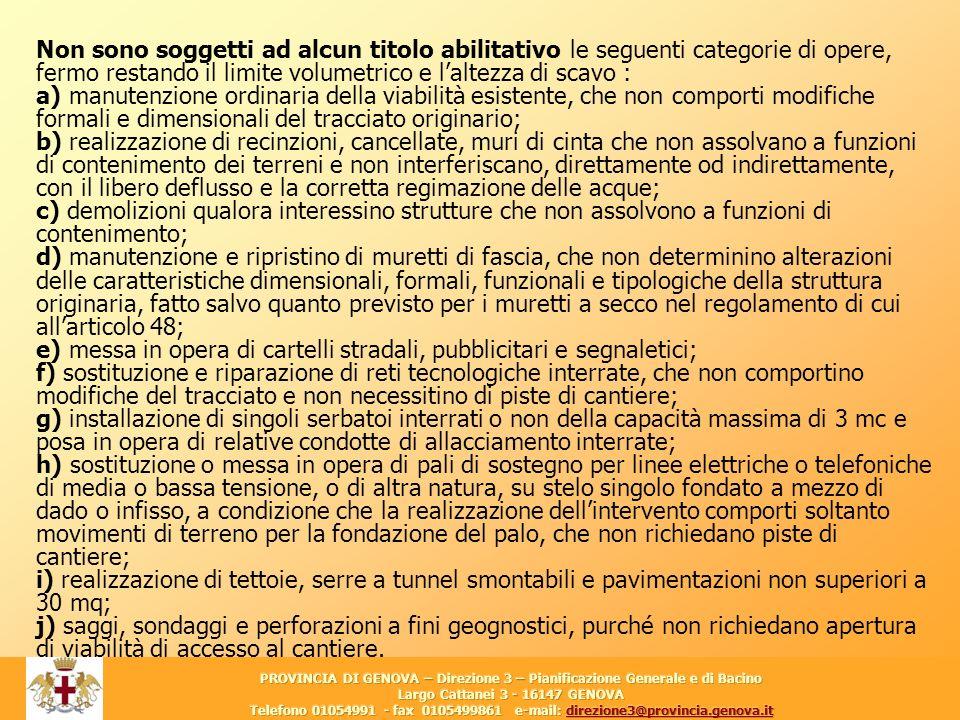 Largo Cattanei 3 - 16147 GENOVA