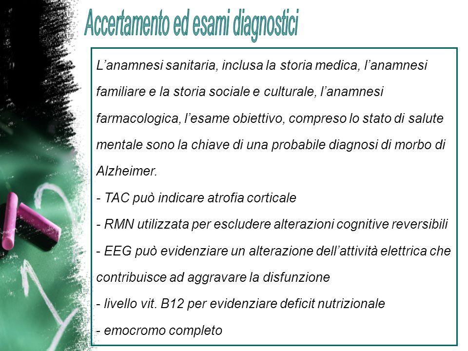 Accertamento ed esami diagnostici