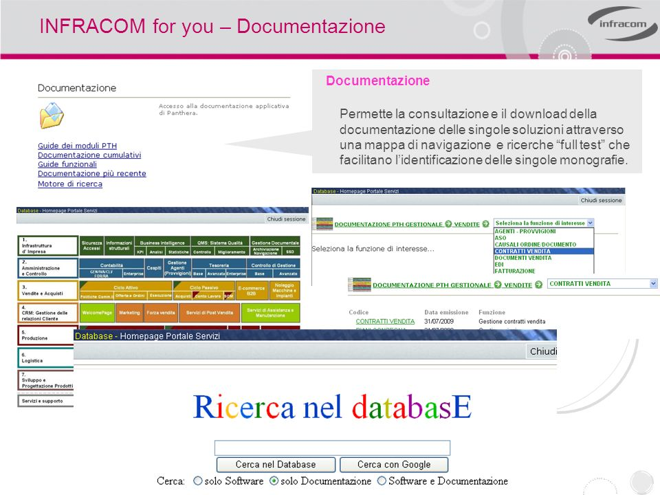 INFRACOM for you – Documentazione