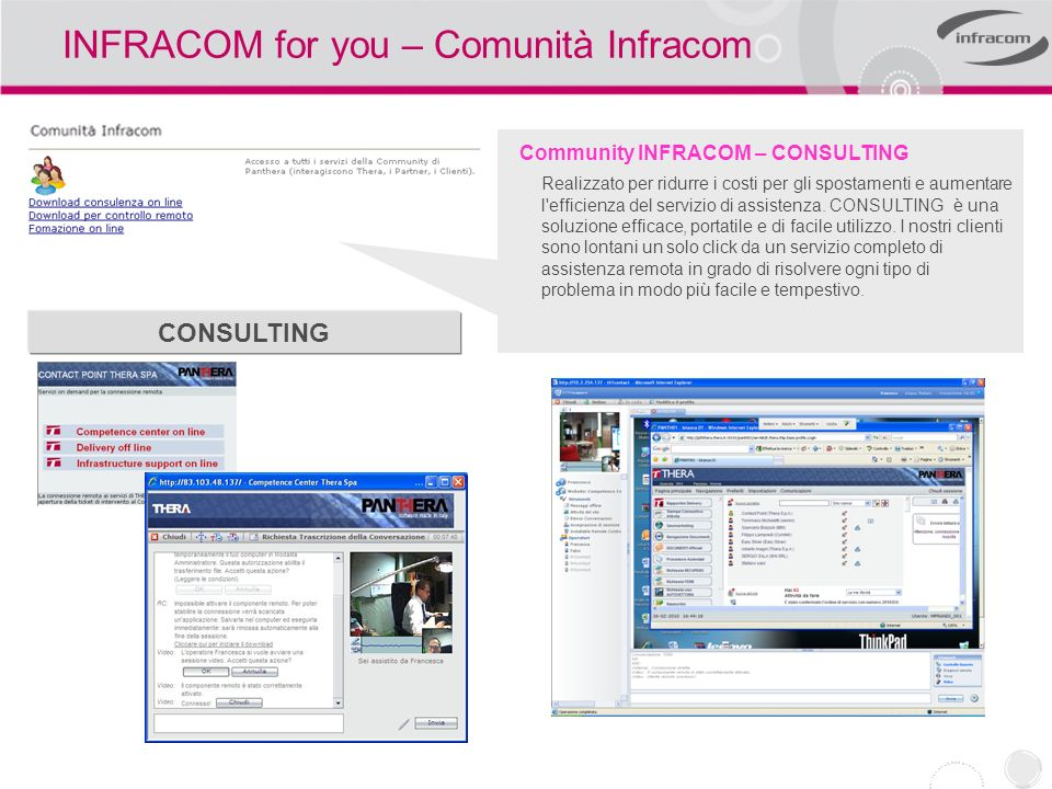 INFRACOM for you – Comunità Infracom