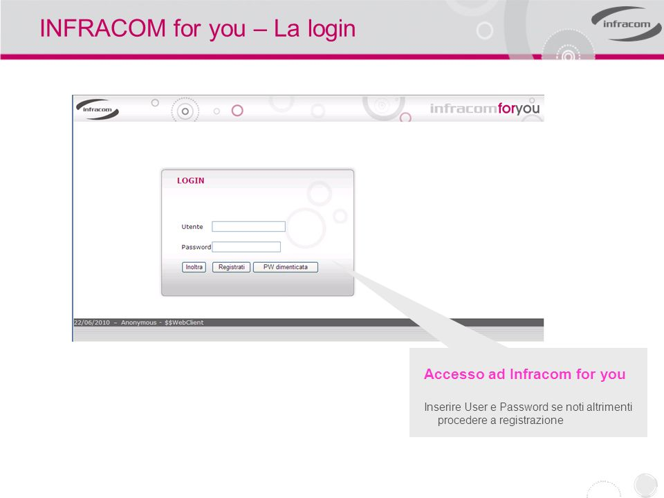 INFRACOM for you – La login