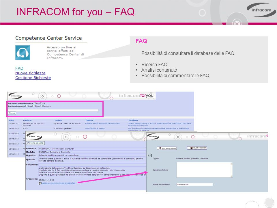 INFRACOM for you – FAQ FAQ