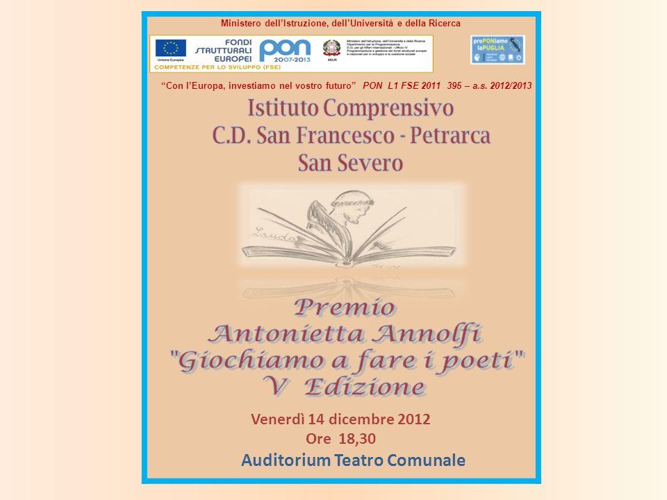 Premio Antonietta Annolfi Giochiamo a fare i poeti V Edizione