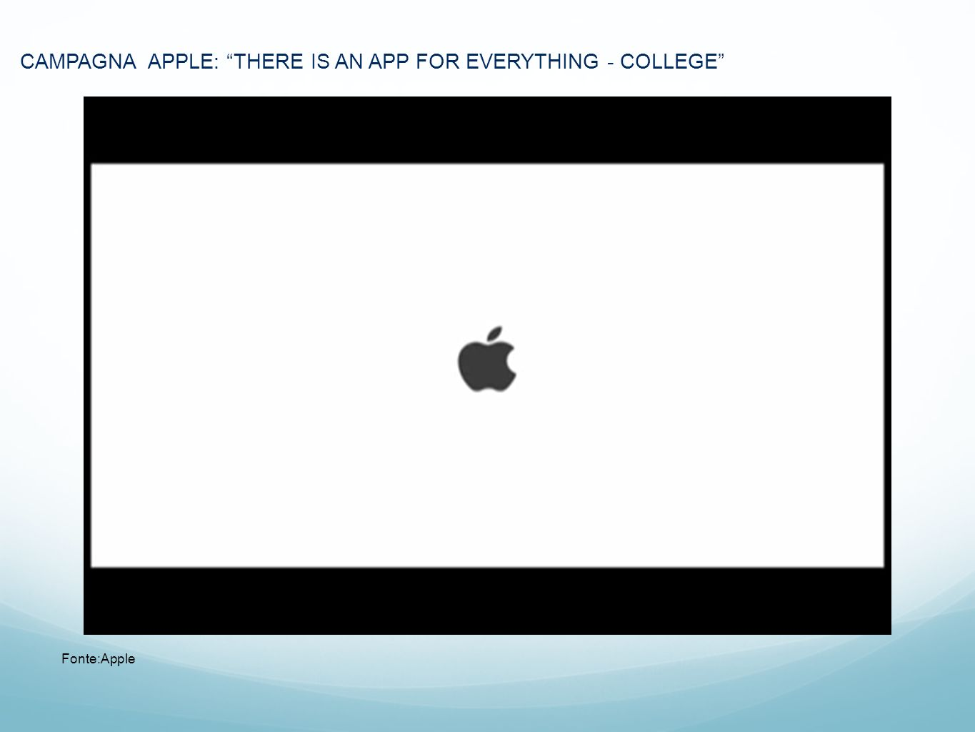 CAMPAGNA APPLE: THERE IS AN APP FOR EVERYTHING - COLLEGE