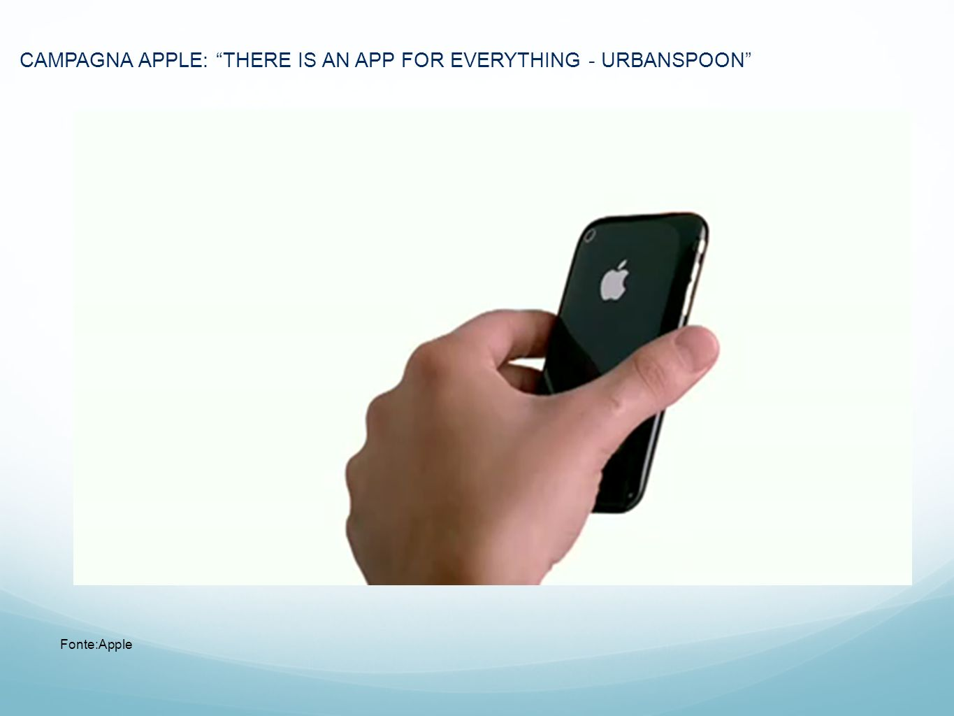 CAMPAGNA APPLE: THERE IS AN APP FOR EVERYTHING - URBANSPOON