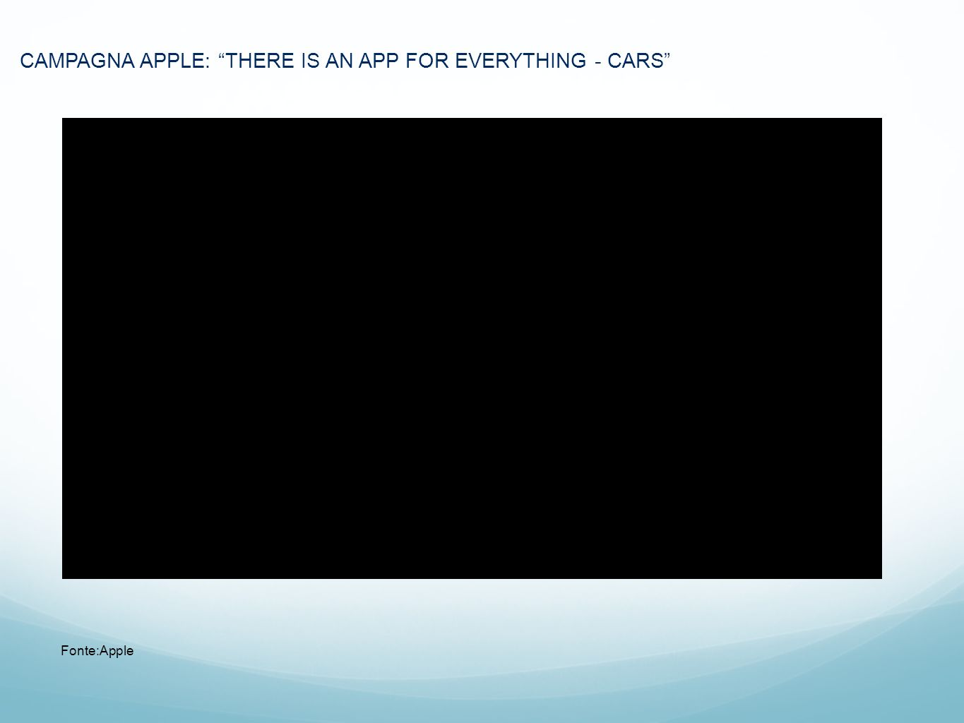 CAMPAGNA APPLE: THERE IS AN APP FOR EVERYTHING - CARS
