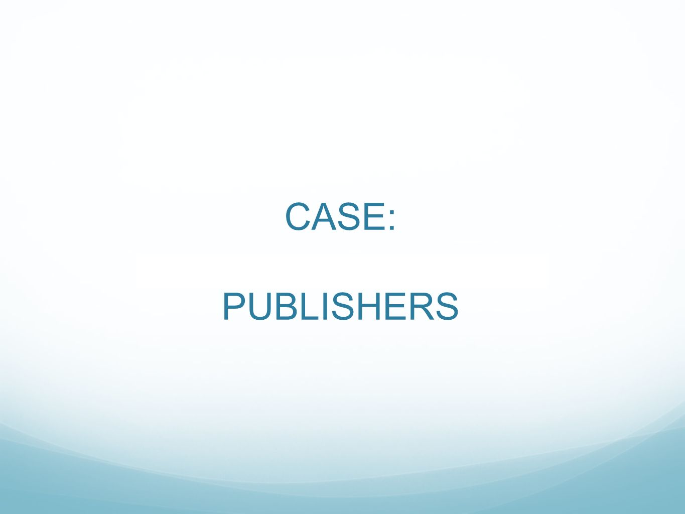 CASE: PUBLISHERS Marc