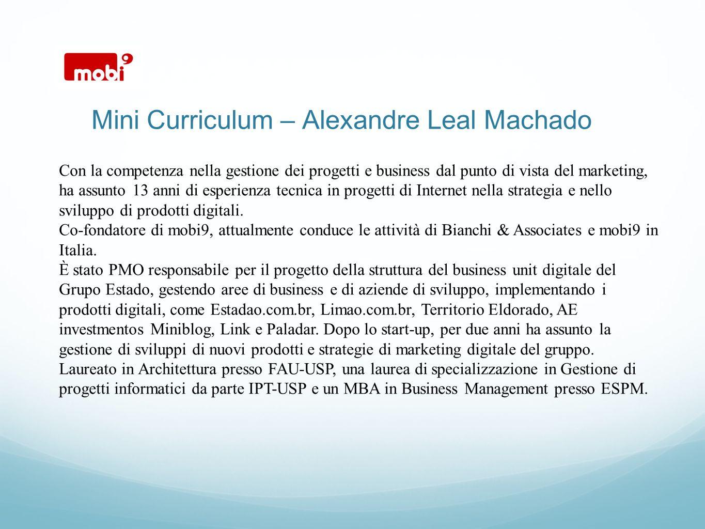Mini Curriculum – Alexandre Leal Machado
