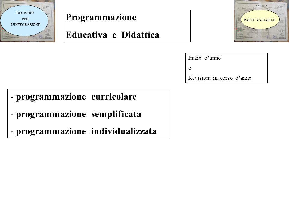 programmazione curricolare programmazione semplificata