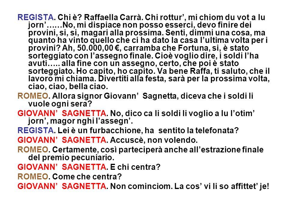 REGISTA. Chi è. Raffaella Carrà
