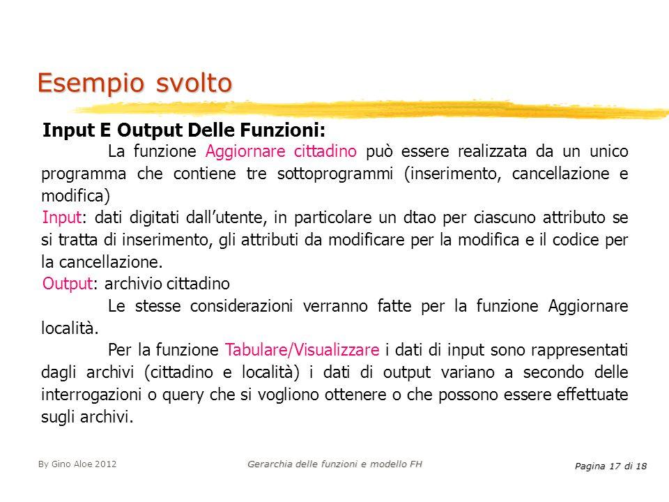 Gerarchia delle funzioni e modello FH