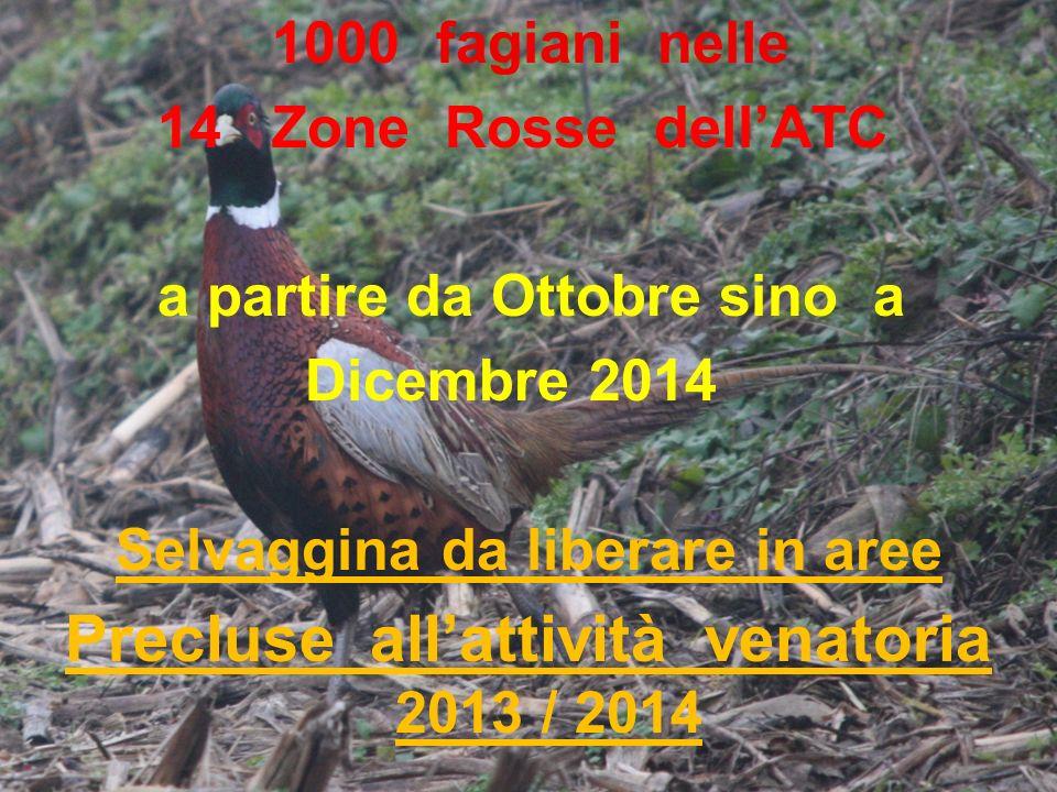 Precluse all'attività venatoria 2013 / 2014