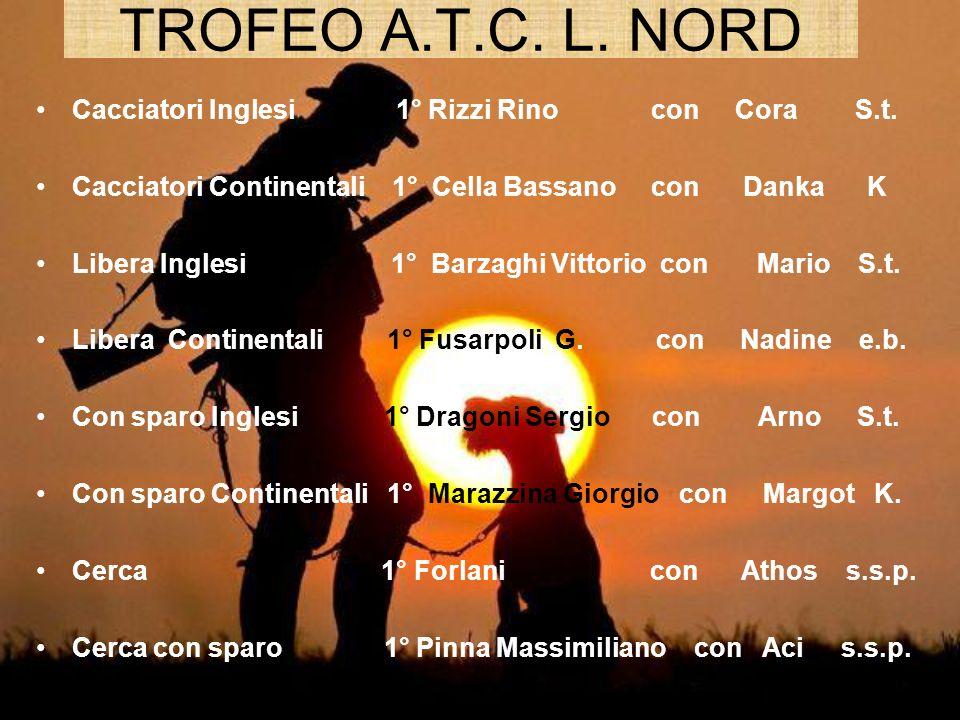 TROFEO A.T.C. L. NORD Cacciatori Inglesi 1° Rizzi Rino con Cora S.t.