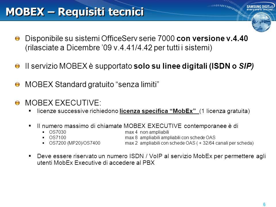 MOBEX – FAQ l'utente MOBEX vede il CLI del chiamante