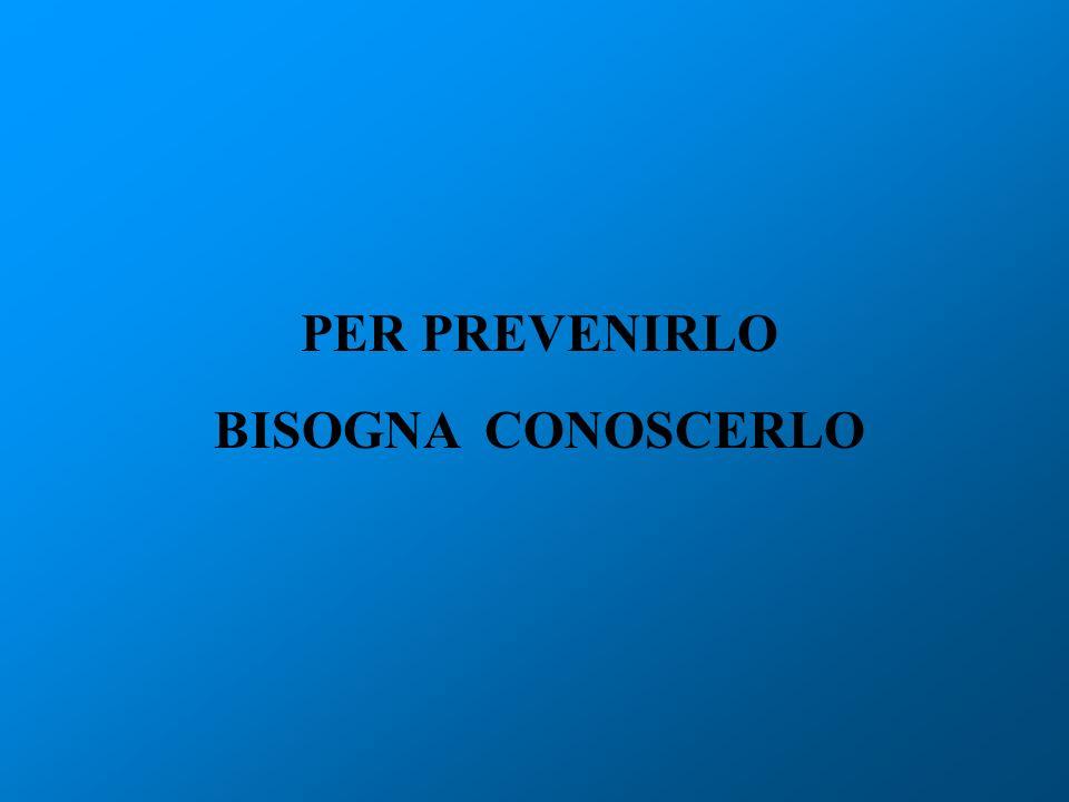 PER PREVENIRLO BISOGNA CONOSCERLO