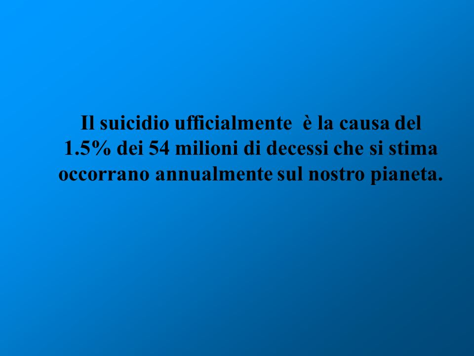 Il suicidio ufficialmente è la causa del 1