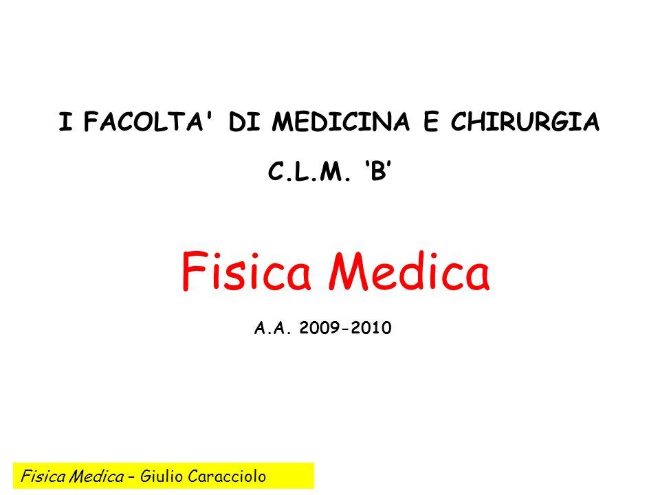 I FACOLTA DI MEDICINA E CHIRURGIA