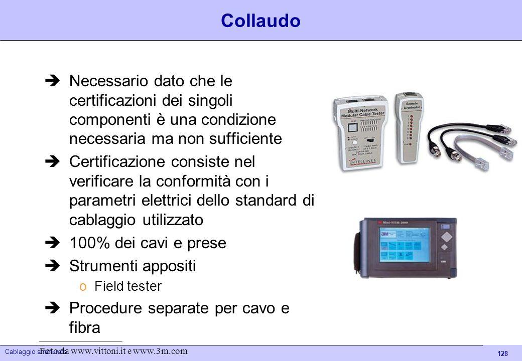 Collaudo Necessario dato che le certificazioni dei singoli componenti è una condizione necessaria ma non sufficiente.