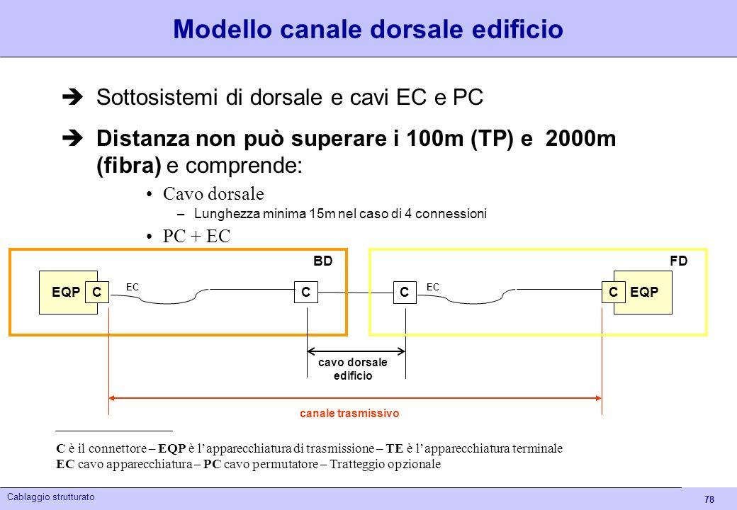 Modello canale dorsale edificio