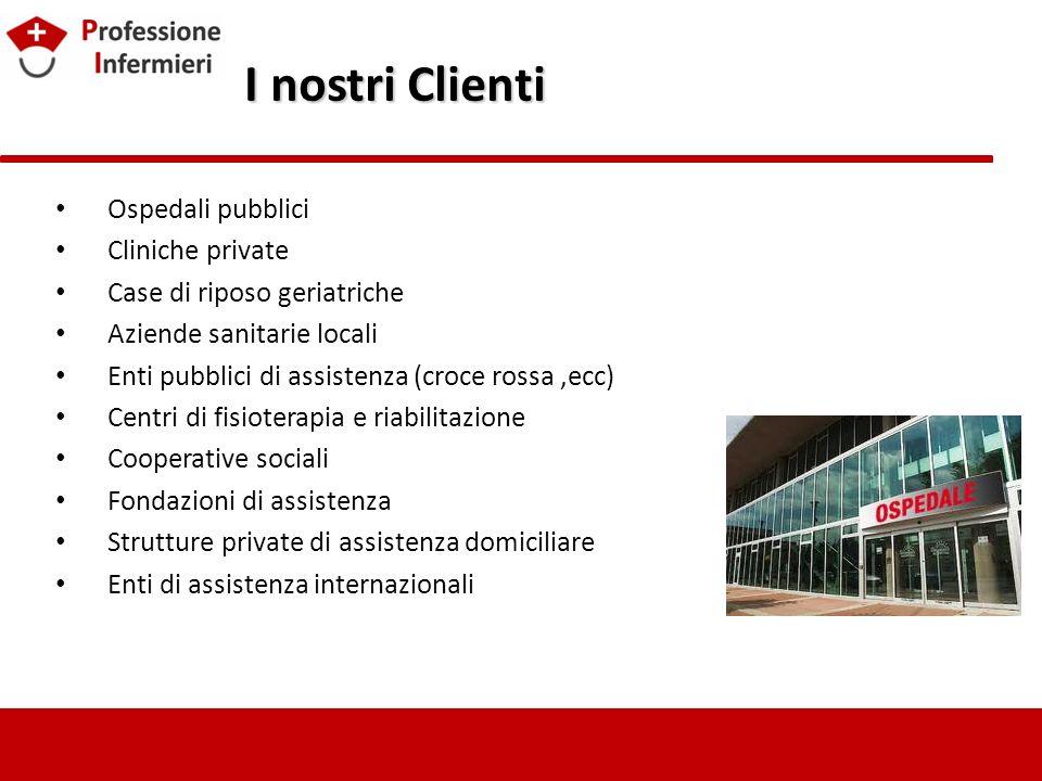 I nostri Clienti Ospedali pubblici Cliniche private