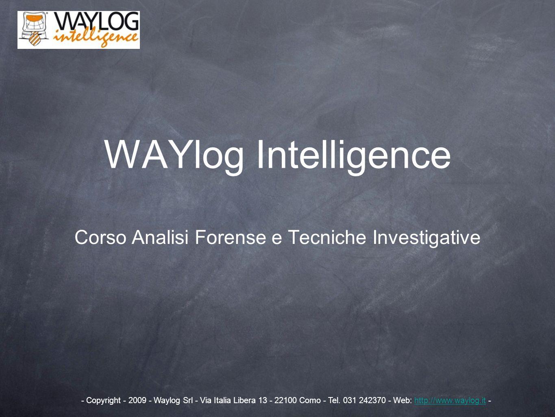 Corso Analisi Forense e Tecniche Investigative