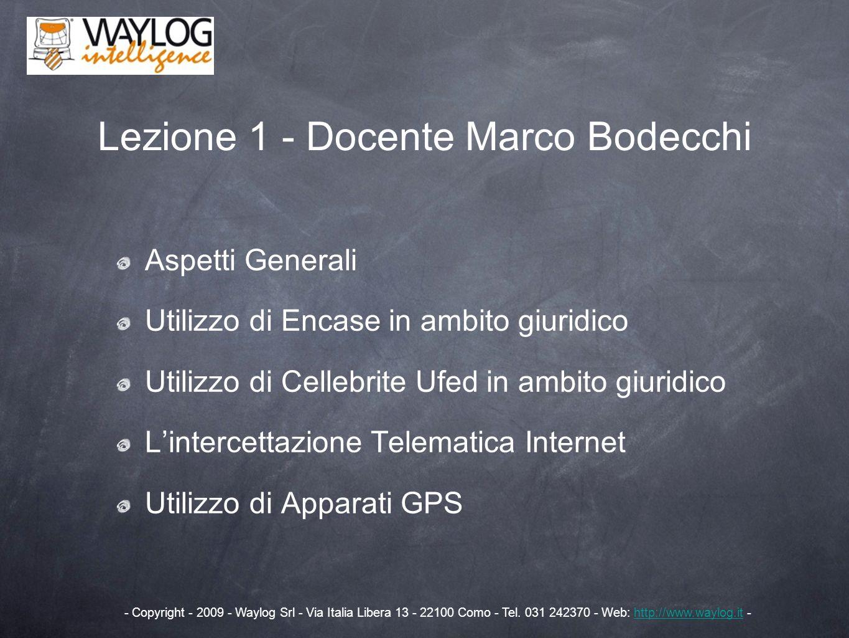 Lezione 1 - Docente Marco Bodecchi