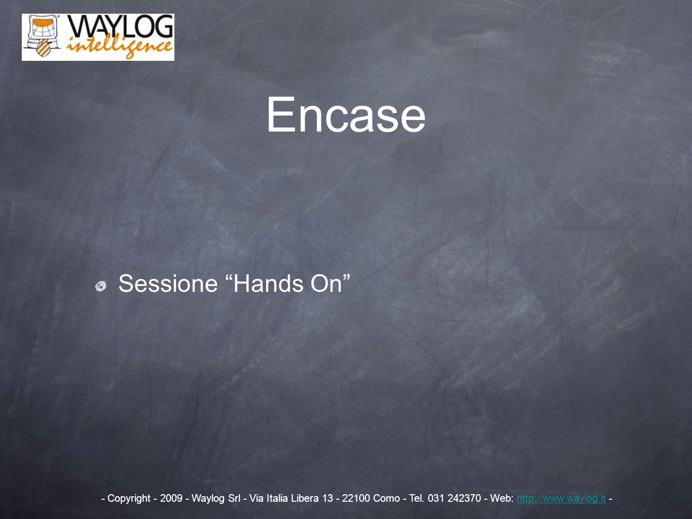 Encase Sessione Hands On