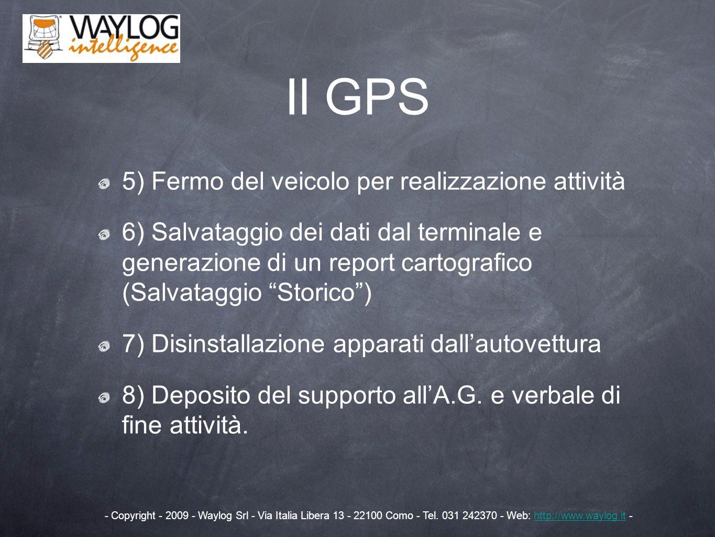 Il GPS 5) Fermo del veicolo per realizzazione attività
