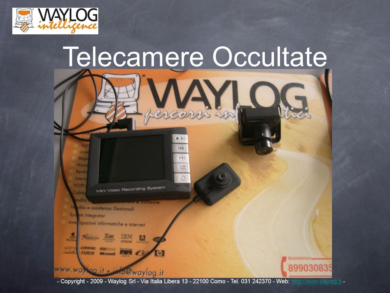Telecamere Occultate - Copyright - 2009 - Waylog Srl - Via Italia Libera 13 - 22100 Como - Tel.