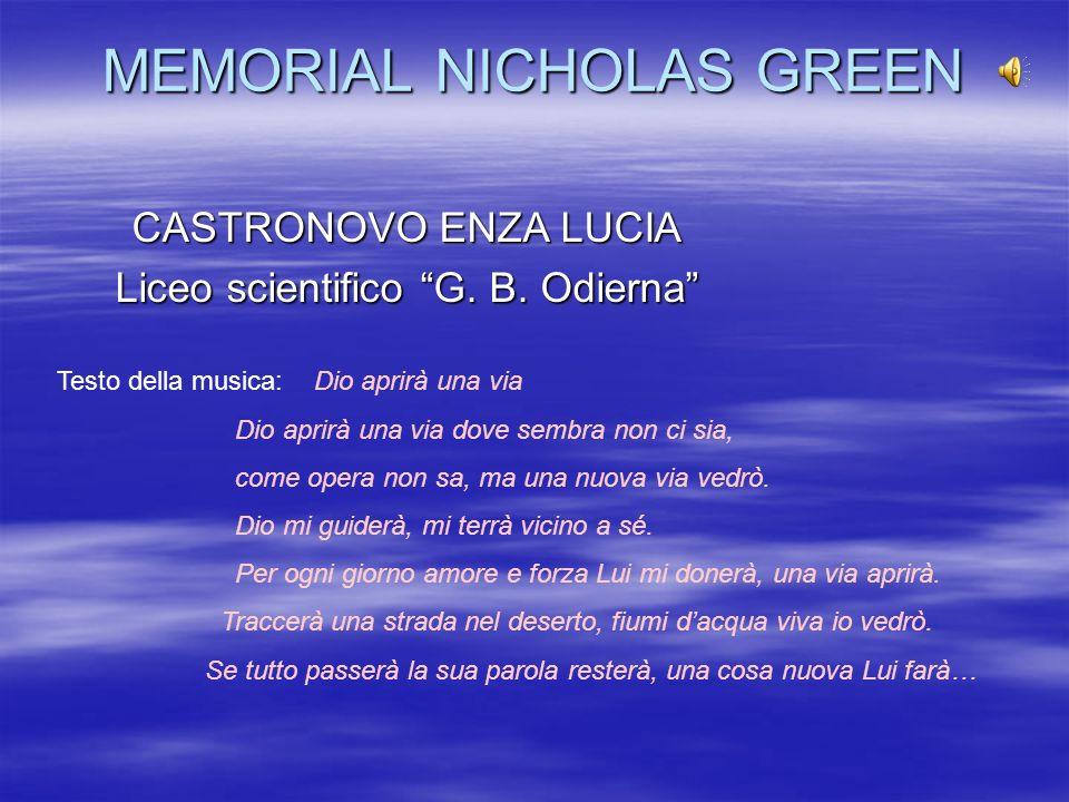 MEMORIAL NICHOLAS GREEN