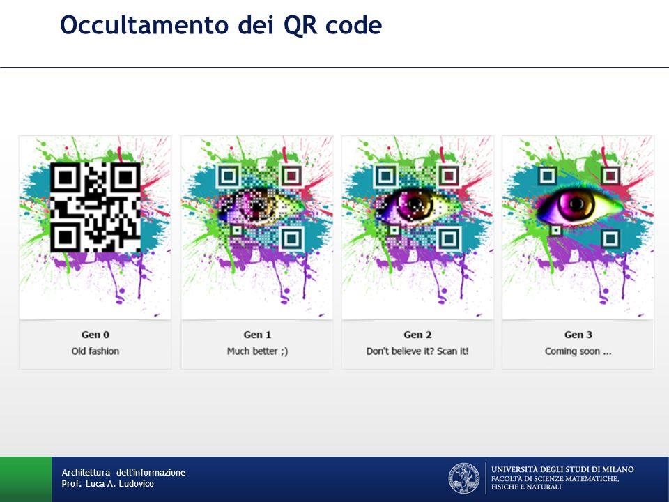 Occultamento dei QR code