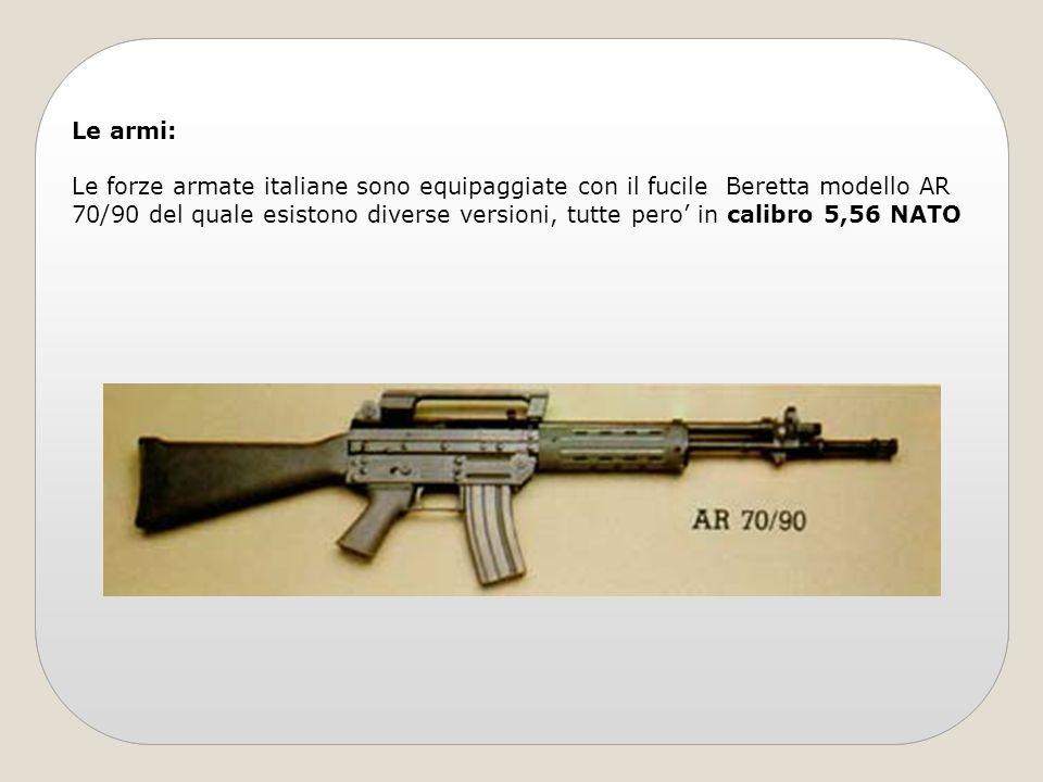Le armi: