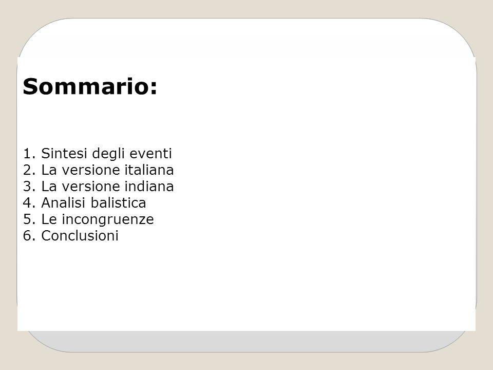 Sommario: Sintesi degli eventi La versione italiana